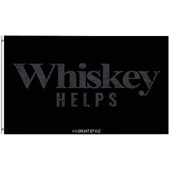 Grunt Style Whiskey Helps Flag - Black