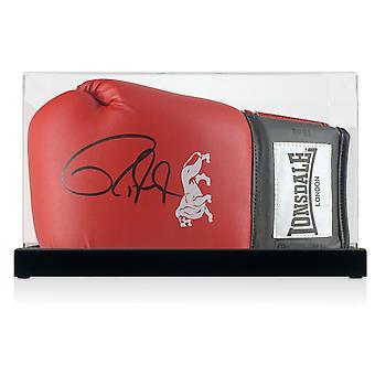 Roy Jones Junior ondertekend Bokshandschoen In vitrine