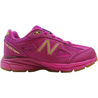 New Balance 990v4 Hot Pink/Metallic Gold KJ990JJP Pre-School
