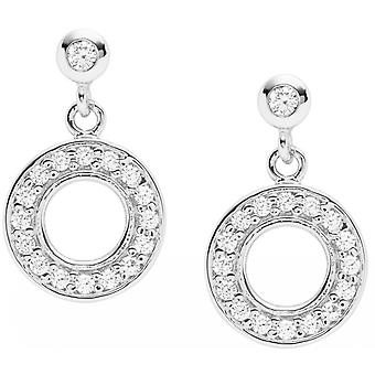 Fossil earrings JFS00473040 - STERLING SILVER Silver CrystalS Transparent