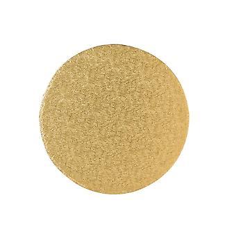 "Culpitt 10"" (254mm) Tavola torta Rotondo Oro Fern Pack di 5"