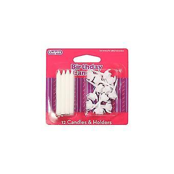Culpitt velas blancas y soportes - Single