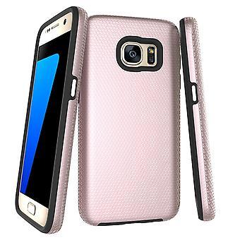 Para Samsung Galaxy S7 Case, Rose Gold Armor Capa de proteção protetora à prova de choque