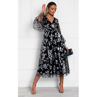 IKRUSH Womens Eden Floral Tulle Maxi Dress