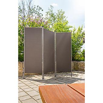 Out-door room divider anthracite - practical privacy sun protection for outdoor