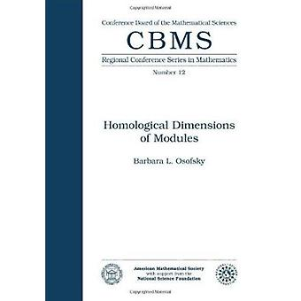 Homological Dimensions of Modules by Barbara Osofsky - 9780821816622
