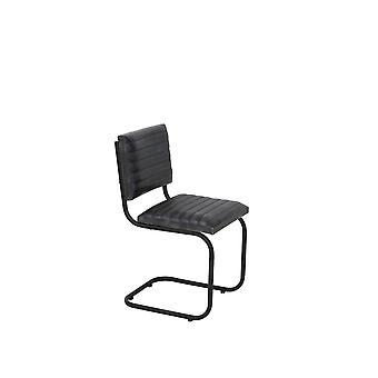 Light & Living Chair 43x47x86cm Lockhart Leather Grey