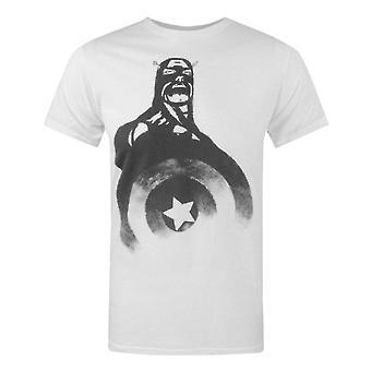 Jack Of All Trades Captain America Mustavalkoinen Miesten&T-paita