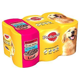 Pedigree Loaf Tin Dog Food (4 x Pack Of 6 x 400g)