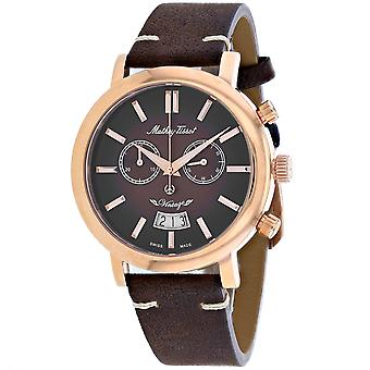 Mathey Tissot Men's Brown Dial Watch - H42CHRF