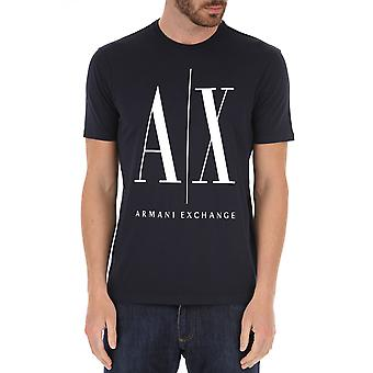 Armani Exchange 8nztpajh4z1510 Uomo's T-shirt Blue Cotton