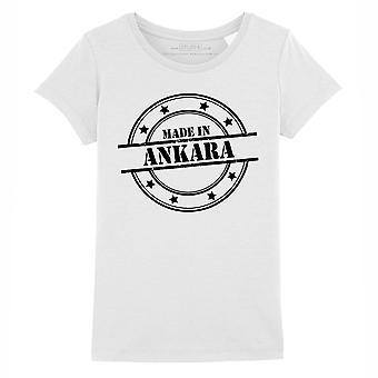 STUFF4 Mädchen's Rundhals T-Shirt/Made In Ankara/weiß