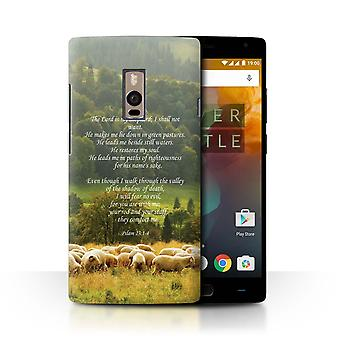STUFF4 Case/Cover for OnePlus 2/Two/Lord Shepherd/Psalm/Christian Bible Verse