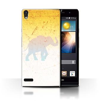 STUFF4 Case/Cover for Huawei Ascend P6/Elephant Shadow/Vivid Ombre