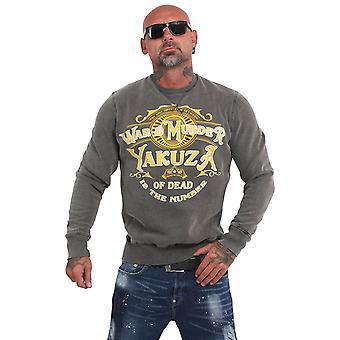 YAKUZA Mäns Sweatshirt Krig är mord syra Crew