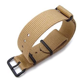 Strapcode n.a.t.o orologio cinturino 20mm calore sigillato pesante nylon pvd fibbia nera - deserto