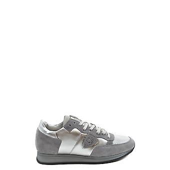 Philippe Modelo Ezbc019049 Mujer's Zapatillas de Ante De plata