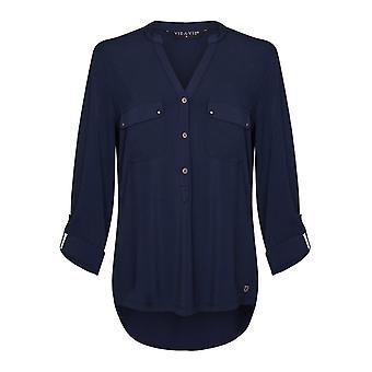 Blusa de Jersey De la Marina VIZ-A-VIZ