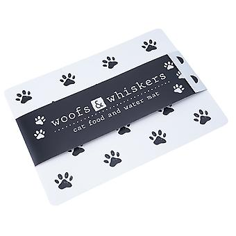 Woofs & Whiskers Cat Food and Water Mat