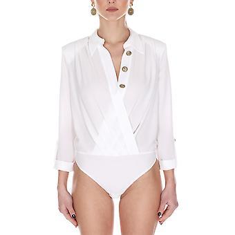Elisabetta Franchi Cb10501e2360 Damen's Weißer Polyester Body