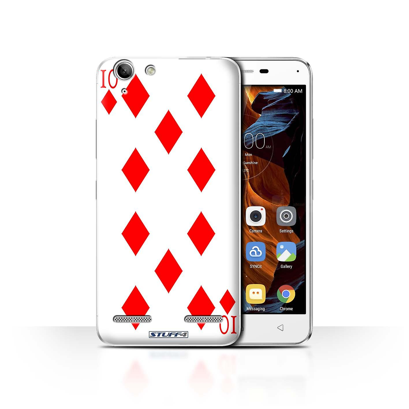 Stuff4 Case Cover For Lenovo Vibe K5 Plus 10 Of Diamonds Playing Cards