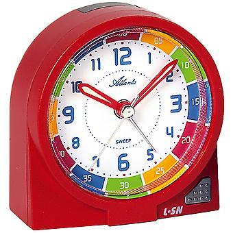 Atlanta 1937/1 Alarm clock children's alarm clock red quiet without ticking learning alarm clock for kids
