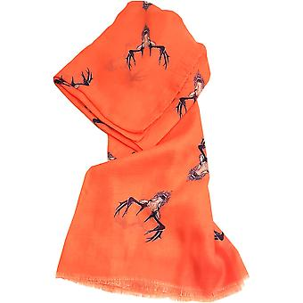 Coral Stag Scarf by Butterfly Fashion London