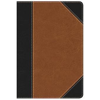KJV Study Bible Personal Size - Black/Tan LeatherTouch by Holman Bibl