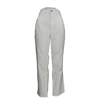 Denim & Co. Damen's Jeans Classic Denim Distressed Skinny White A304475 #2