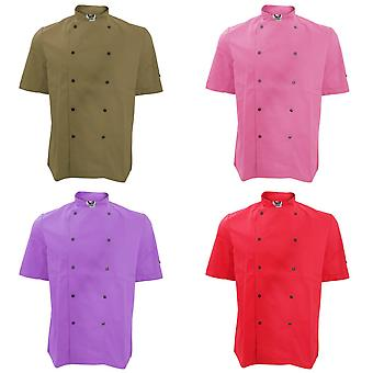Dennys Unisex Short Sleeve Stud Button Chef Jacket