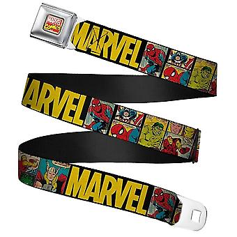 Marvel Comics Retro Full Color Webbing Cinto de Fivela do Cinto de Fivela