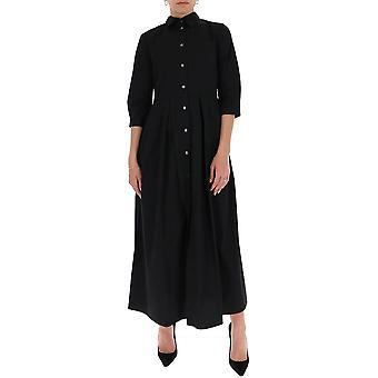 Semi-couture S0sk08y69 Women's Black Cotton Dress