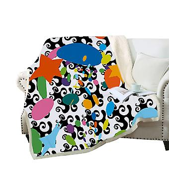 3D color pattern printed blanket Polyester multi-purpose blanket high-quality