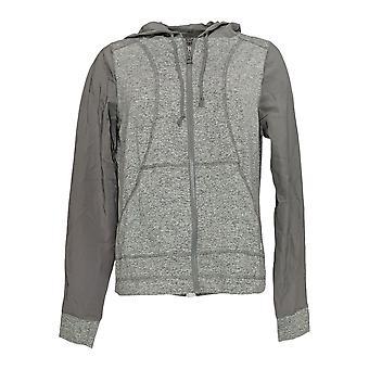 Anybody Women's Move Zip Up Hooded Jacket Gray A306093