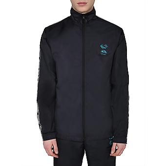 Off-white Ompd010r20g450011000 Men's Black Nylon Sweatshirt