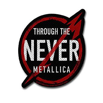 Metallica Patch Through The Never band Logo Official New Black Cut Out 10 cm