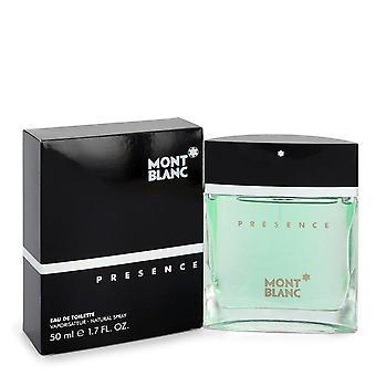 Presence Eau De Toilette Spray By Mont Blanc 1.7 oz Eau De Toilette Spray