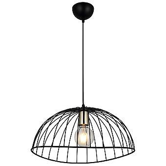 Noma Suspension Lampe Couleur Or, Noir en métal, L40xP40xA110 cm