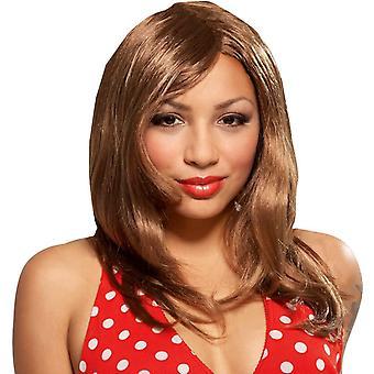 Glamour tyttö Brown Peruke