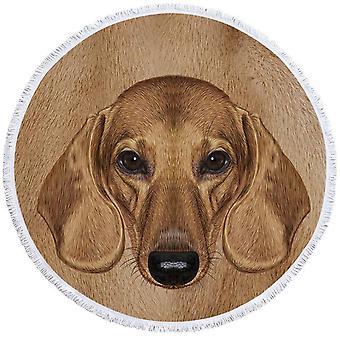 Dachshund hund hovedstrand håndklæde