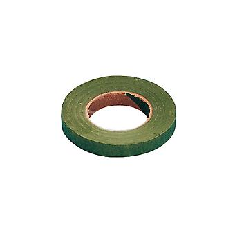26mm Green Crepe Ribbon for Floristry Crafts - 27.5m