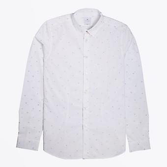 PS Paul Smith  - Slim Fit Shapes Print Shirt - White