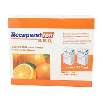 Recuperat-Ion Oral Serum SRO (Orange Flavor) 2 units of 250ml