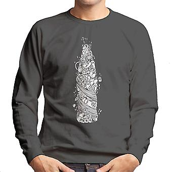 Pepsi wit Doodle fles mannen Sweatshirt