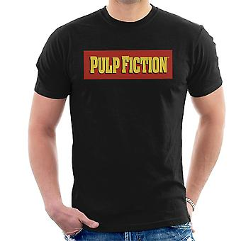 Pulp Fiction Classic Film Logo Red And Yellow Men's T-Shirt