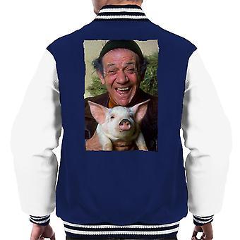 TV Times Sid James Holding A Pig Men's Varsity Jacket