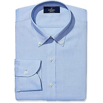BUTTONED DOWN Men's Slim Fit Button-Collar Non-Iron Dress Shirt (No Pocket), ...