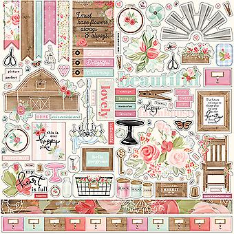 Carta Bella Farmhouse Market 12x12 Inch Element Sticker