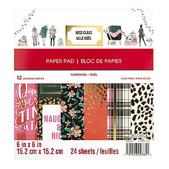 Craft Smith Miss Claus 6x6 Inch Paper Pad