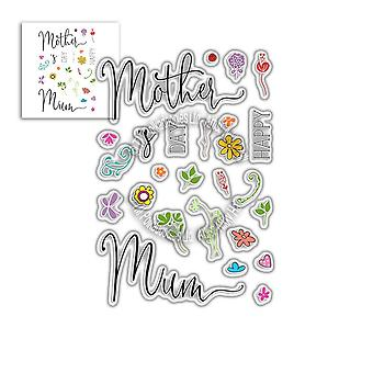 Polkadoodles Mother's Day Sentiments Clear Stamps